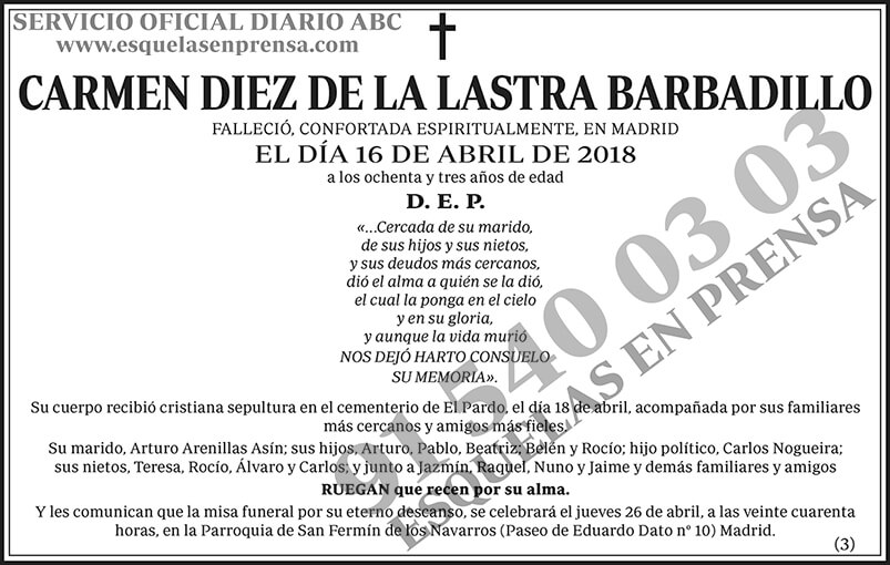 Carmen Diez de la Lastra Barbadillo